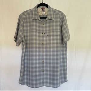The north face button up plaid shirt